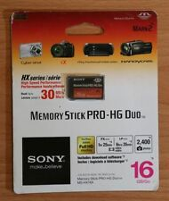 ORIGINALE SONY 16GB Memory Stick PRO-HG Duo HX MEMORY CARD