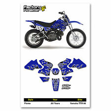 Yamaha TTR 90 FLAME Graphics kit Dirt Bike Deco Decals by Enjoy Mfg
