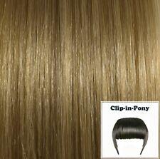 Clip-In-Pony aschblond #18, Remy-Echthaar, Clip-Pony aus indischem Echthaar