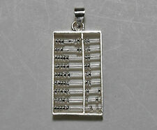 Sterling Silver Moveable Beads Abacus Pendant Charm M
