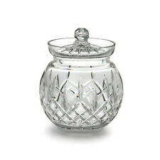 Waterford Crystal Lismore Round Biscuit Barrel Cookie Jar New In Waterford Box