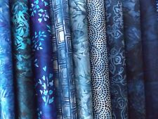 "Blue Batiks Fabric 30 Pc. Layer Cake 10"" Squares 100% Cotton Sewing Crafts"
