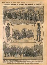 Général de Roumanie Soldiers Infantry Officier de Chasseurs Romania 1916 WWI