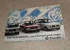 Triumph Dolomite Brochure 1978 - Sprint 1850HL 1500HL 1500 1300 - Dealer Sticker