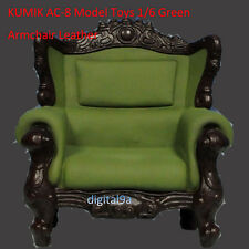 "KUMIK AC-8 Model Toys 1/6 Green Armchair Leather Sling Chair Couch F 12"" Figure"