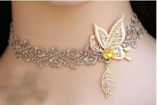 Women Hot Lace Choker Necklace Vintage Retro Goth Butterfly Wedding Jewelery