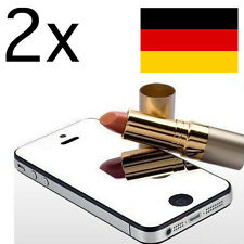 2x iPhone 5 5S Mirror Display Schutzfolie Spiegelfolie Screen Protector Guard SE