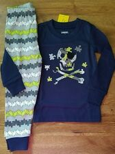NEW GYMBOREE BOYS LONG SLEEVE GYMMIES SIZE 2T SKULL AND CROSSBONES PUZZLE PIECE