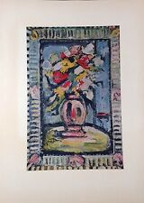 "1954 Vintage Full Color Art Plate ""BOUQUET"" by GEORGES ROUAULT FAMOUS Lithograph"