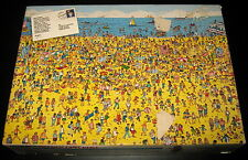Where's Waldo On The Beach Jigsaw Puzzle 100 Pc Piece Puzzle 1989 Vintage