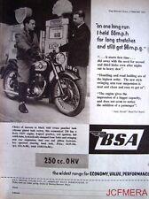 1957 Motor Cycle ADVERT - B.S.A. '250cc OHV' (£129-10s + P.Tax) Print AD #2