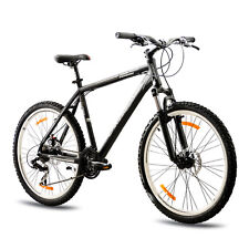 "26"" POLLICI MTB MOUNTAIN BIKE BICICLETTA chrisson Terier con Suntour 21g Nero Top"