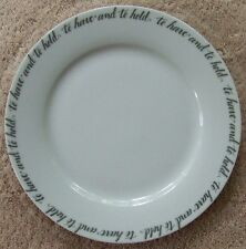 Pottery Barn To Have and To Hold Layer Plate ~ New ~ Wedding Anniversary White
