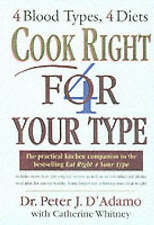Cook Right 4 Your Type,GOOD Book