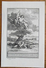 J. de la Fontaine: Fable Original Engraving God Jupiter - 1786