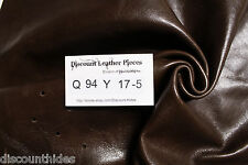 Sm scrap leather hide: Cornfield Brown. Smooth, med sheen. Appx 3 sqft Q94Y17-5