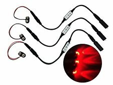 3 Pack Micro Effects Red LED Lights & controller 9 Volt powered MELRD9V3P