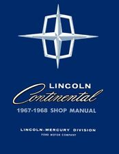 1967 1968 Lincoln Continental Shop Service Repair Manual