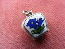 VINTAGE SILVER CHARM ENAMELLED SWISS COWBELL