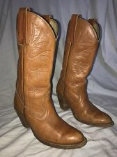 Vintage Frye 6195 Women's Western Cowboy Distressed Leather Boots Size 7 B