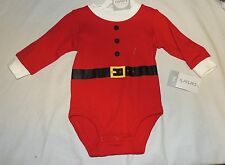New Unisex Baby Carters My First Christmas Santa One Piece Costume Size 3 Month