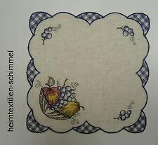 STICKEREI Tischdecke ALLZEIT Deckchen OBST Tischdeckchen KÜCHE Decke 26x26cm