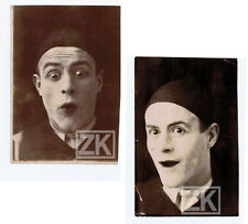 GASTON MODOT Peintre Acteur PIERROT Pouittes Durand Gaumont 2 Photos 1900s