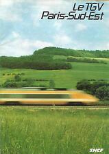 SNCF - LE TGV PARIS SUD-EST