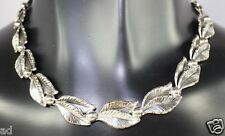 Vintage Signed TEKA 835 Silver Link Necklace Theodor Klotz Germany c1970s Retro