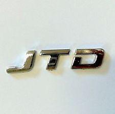Fregio Logo Scritta Posteriore Cromata JTD Per FIAT PANDA PUNTO IDEA STILO DOBLO