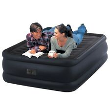 """INTEX Queen Raised Downy Fiber-Tech 22"""" Height Airbed & Electric Pump #64440"""