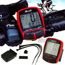 Wireless Bicycle Bike Computer Speedometer Odometer W/ Backlight Auto Wakeup RED