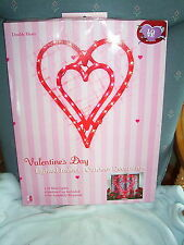 """Valentine's Day Double Heart Lighted Window Decoration, New in Box 17"""""""