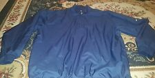 NIKE GOLF CLIMA-FIT BLUE MEN'S HALF ZIP PULLOVER JACKET LINED POCKETS XL