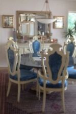 """GRANITE BLUE PEARL CUSTOM 60"""" ROUND DINING SET WITH 6 CHAIRS"""