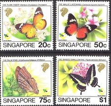 Singapore stamps - 1993 BUTTERFLY 4v set MNH insects thematic