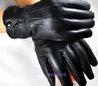 Winter Real Sheepskin Leather Gloves Fur Cape Glove Women Bike Motor Cycling Hot