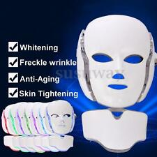 7 Colors PDT LED Light Photon Face Neck Mask Skin Rejuvenation Therapy Wrinkles