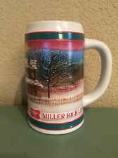 "Miller High Life Ceramic Beer Mug ""To The Best Holiday Traditions"" Christmas"