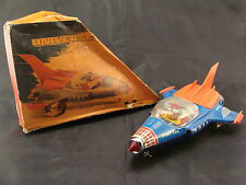 #Antique Red China Tin Toy# ME 90 Universe Space Car Astronaut MF SH Masudaya