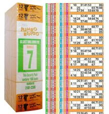 1500 BOOKS 12 PAGE GAME STRIP OF 12 TV JUMBO BINGO TICKET SHEET BIG BOLD NUMBERS