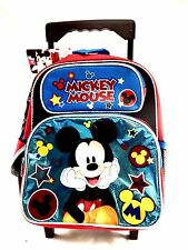 "New Arrive Mickey Mouse Shine Blue Toddler 12"" Rolling Backpack"