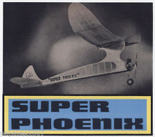 "Model Airplane Plans (FF): SUPER PHOENIX OT 52"" Class A by Frank Ehling"