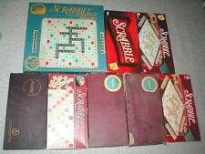 SCRABBLE GAME GAMES SET SETS LOT of 8 (7 STANDARD & 1 DELUXE)