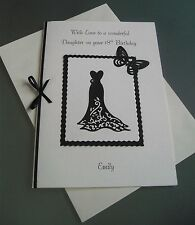 Personalised 16th 18th 21st 30th 40th 50th Birthday Card Daughter/Niece/Wife