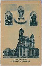 CARTOLINA d'Epoca  BERGAMO  - Romano di Lombardia : CHIESA PREPOSITURALE