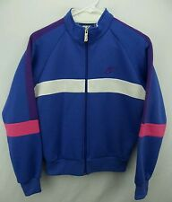 Vintage 80s NIKE Blue Tag Full Zip Track Jacket Size Womens Medium M