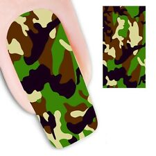 Nail Art Sticker Water Decals Transfer Decorative Army Camouflage (DX1297)