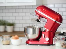 Emperial Cake Stand Mixer 5.2L Electric Food Stand Mixer Red 1300W Splash Guard