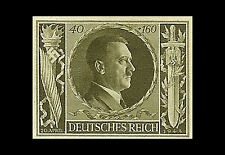 Framed Print - Adolf Hitler 54th Birthday German Stamp 1944 (Picture Poster Art)
